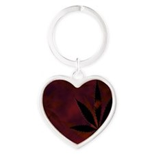 Weed Scatter Heart Keychain