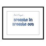 The Gentle Reminder Large Framed Print