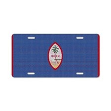 BIG GUAM FLAG Aluminum License Plate