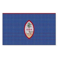 BIG GUAM FLAG Decal