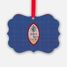BIG GUAM FLAG Ornament