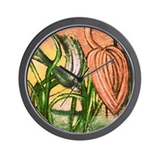 HAY DAY IN THE SWAMP Wall Clock