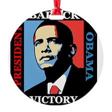 Barack Obama Victory Ornament