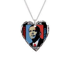 Barack Obama Victory Necklace Heart Charm