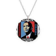 Barack Obama Victory Necklace Circle Charm