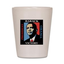 Barack Obama Victory Shot Glass