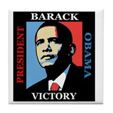 Barack Obama Victory Tile Coaster