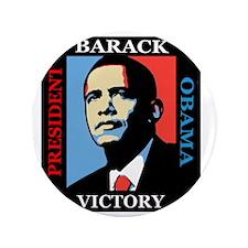 "Barack Obama Victory 3.5"" Button"