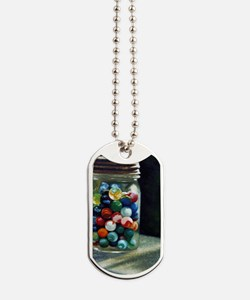 Jar of marbles Dog Tags