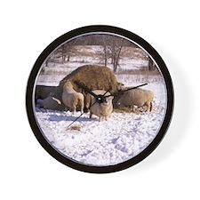 Ewes Very Fluffy! Wall Clock