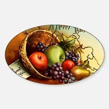 FRUIT BASKET - Sticker (Oval)