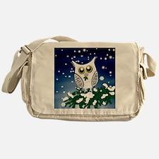 Christmas Snowy Owl Messenger Bag