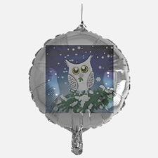 Christmas Snowy Owl Balloon