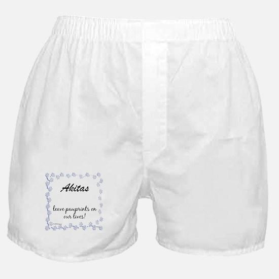Akita Pawprints Boxer Shorts