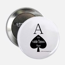 "Table Tennis Smiley 2.25"" Button (10 pack)"
