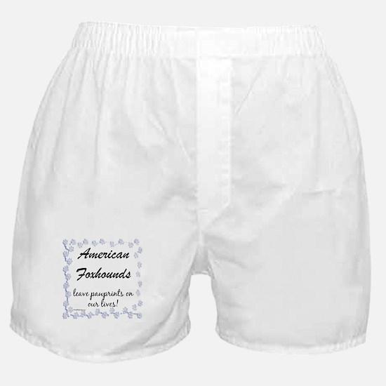 Am Fox Pawprints Boxer Shorts