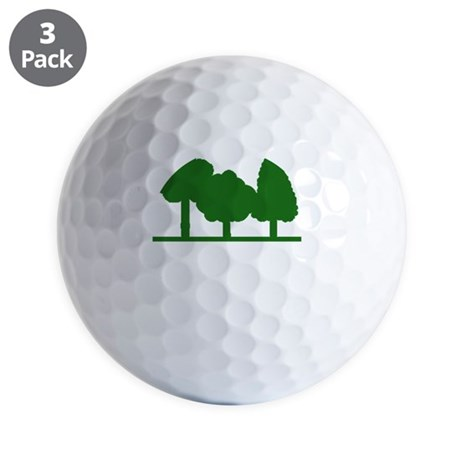 Forest Be With You Golf Balls