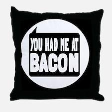 baconbutton Throw Pillow