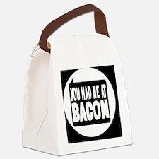 baconbutton Canvas Lunch Bag