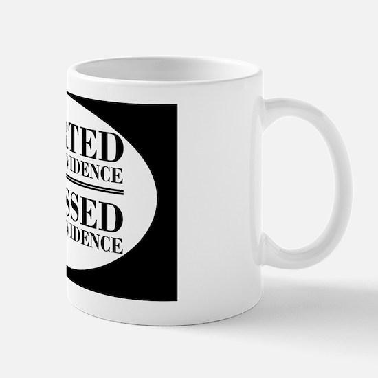 withoutevidenceoval Mug