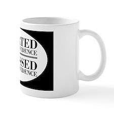 withoutevidenceoval Small Mug