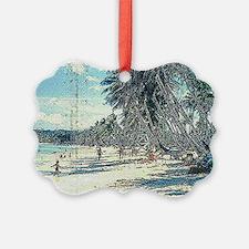 Tumon Beach 1950s Ornament