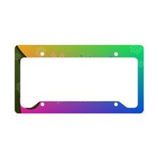 Rainbow Snowflake License Plate Holder