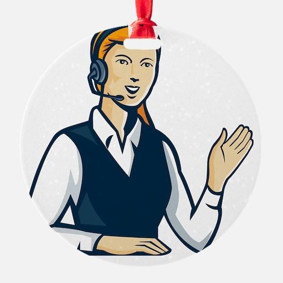 Telemarketer Call Center Operator R Ornament