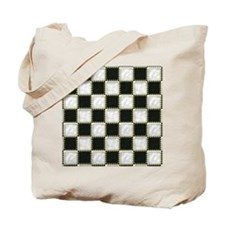 Patchwork black and white Tote Bag