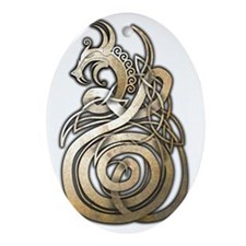 Norse Dragon Oval Ornament