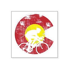 "Bike Colorado Square Sticker 3"" x 3"""