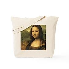 Mona Lisa Face Tote Bag
