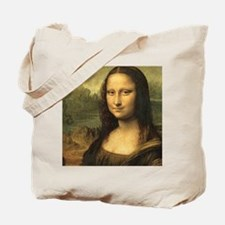 Mona Lisa Face Tote Bag