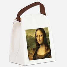 Mona Lisa Face Canvas Lunch Bag
