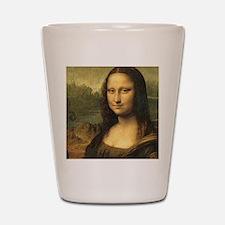 Mona Lisa Face Shot Glass