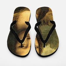 Mona Lisa Face Flip Flops