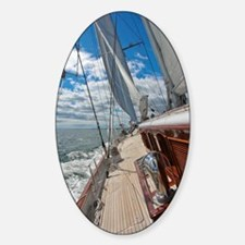 Yachting In Newport Decal