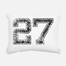 27, Vintage Rectangular Canvas Pillow