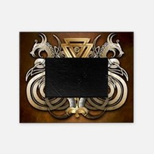 Norse Valknut Dragons Picture Frame