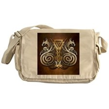 Norse Valknut Dragons Messenger Bag