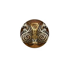 Norse Valknut Dragons Mini Button