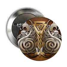 "Norse Valknut Dragons 2.25"" Button"
