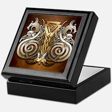 Norse Valknut Dragons Keepsake Box