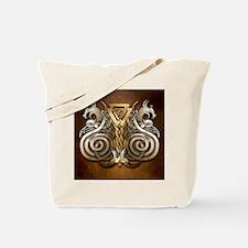 Norse Valknut Dragons Tote Bag