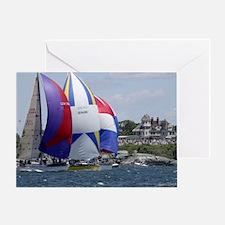 Newport Sailing Greeting Card