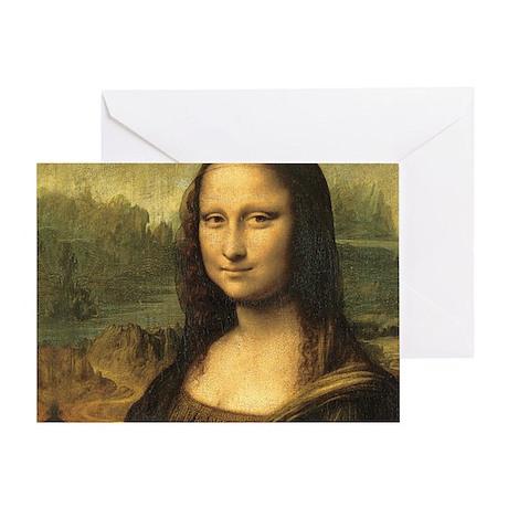 Mona Lisa Face Greeting Card
