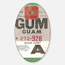 Guam Luggage Tag Decal