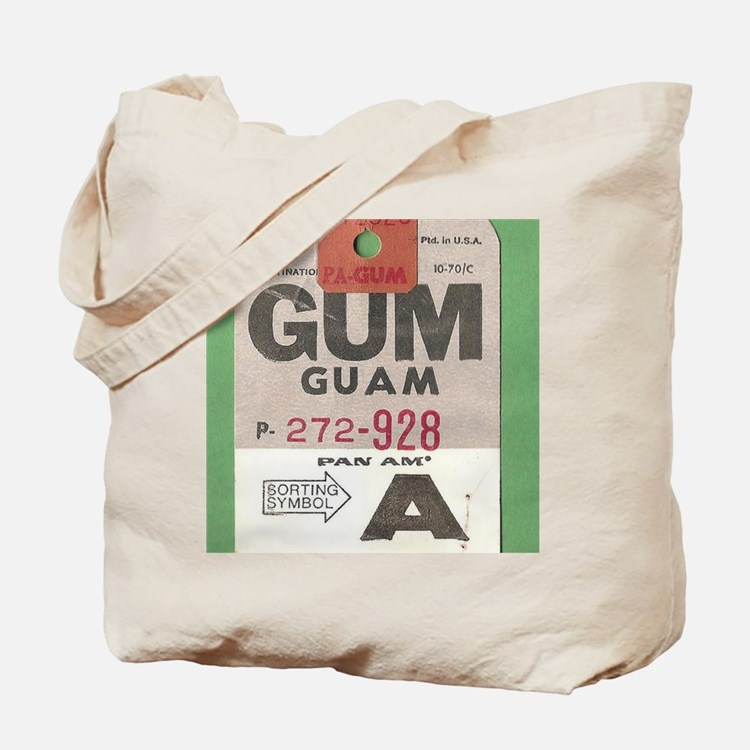 Guam Luggage Tag Tote Bag