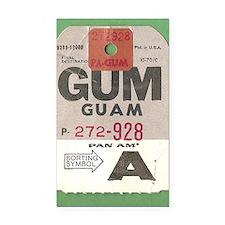 Guam Luggage Tag Rectangle Car Magnet