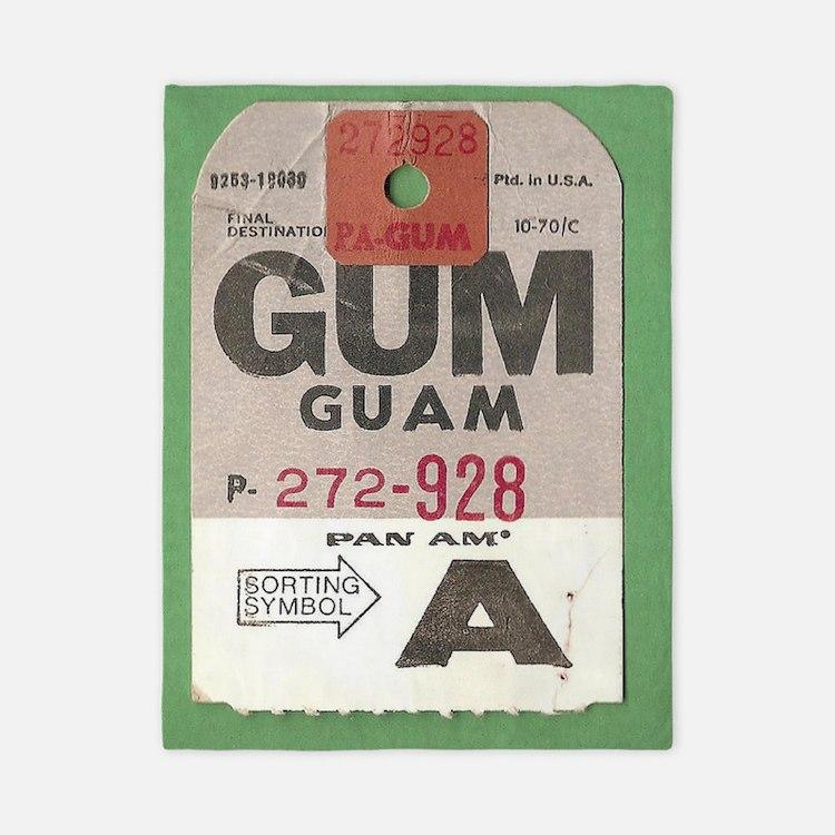 Guam Luggage Tag Twin Duvet